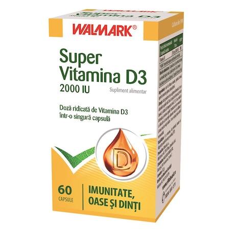 Supliment alimentar Super Vitamina D3 Walmark, 60 tablete