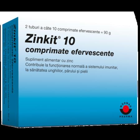 Supliment alimentar Zinkit 10, 20 comprimate efervescente